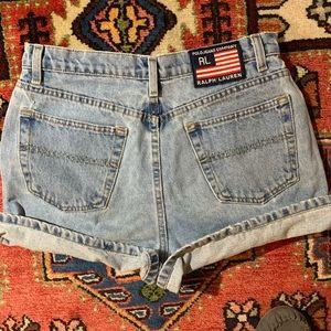 Polo Jeans Co Ralph Lauren hi rise Jean shorts VTG